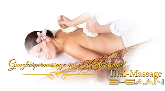 "Abbildung (Bild) der traditionelle Thai-Massagebehandlung zu dem Gutschein für »Ganzkörpermassage mit Kräuterstempel« bei E-Saan Thai-Massage ""Wellness & Spa mit traditionelle Thaimassagebehandlungen in Davidstraße 20b in 73033 Göppingen"