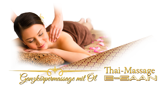 "Abbildung (Bild) der traditionelle Thai-Massagebehandlung zu dem Gutschein für »E-Saan Ganzkörpermassage mit Öl« bei E-Saan Thai-Massage ""Wellness & Spa mit traditionelle Thaimassagebehandlungen in Davidstraße 20b in 73033 Göppingen"